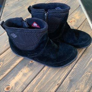 Columbia Black Minx Shortie Zip Boots Size 7.5